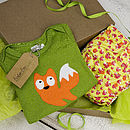 Mr Fox Nappy and Child's T-shirt Gift Set
