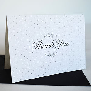 Personalised Daisy Chain Thank You Card - bridesmaid cards