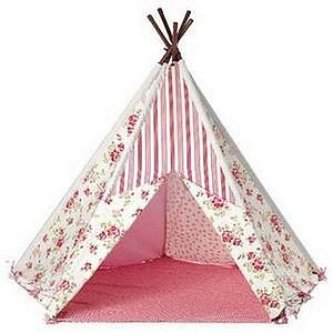 Little Girl's Pink Floral Print Wigwam - toys & games
