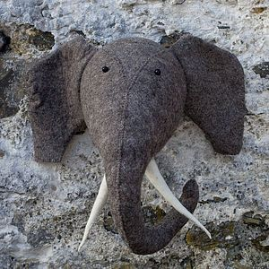 Felt Elephant Head - ornaments