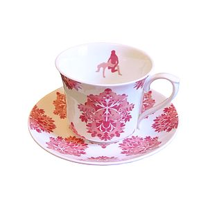 Secret Image Damasutra Tea Cup And Saucer - kitchen