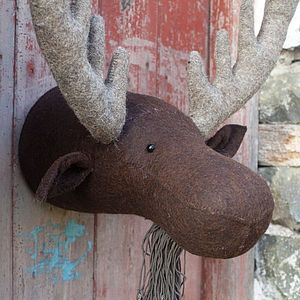 Felt Moose Head - ornaments