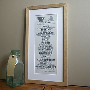 Opposites Attract Print - gifts for couples