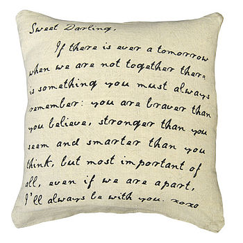 'Sweet Darling' Stonewashed Linen Cushion