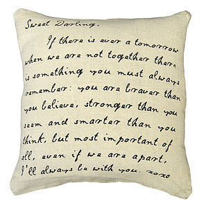 'Sweet Darling' Stonewashed Linen Cushion - cushions