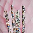Ditsy Floral Paper Straws