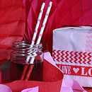 Heart Paper Straws