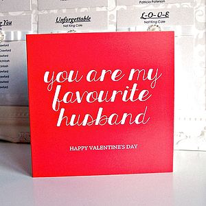 'You Are My Favourite Husband / Wife' Card