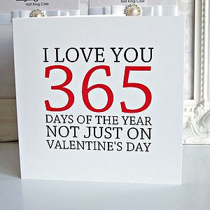 'I Love You 365 Days Of The Year' Card