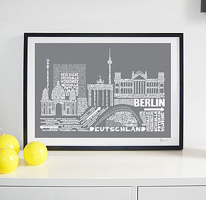Berlin Skyline Typography Print - posters & prints