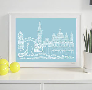 Venice Skyline Typography Print - shop by price