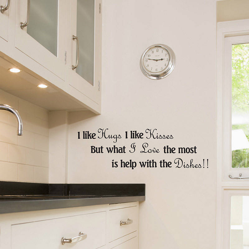 kitchen wall art stickers by wall decals uk by gem designs