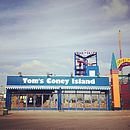 New York Tom's Coney Island Photo Print