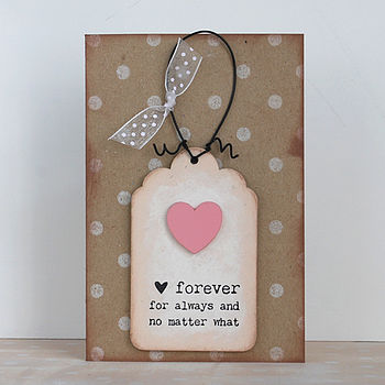 'Forever, For Always…' Card And Keepsake