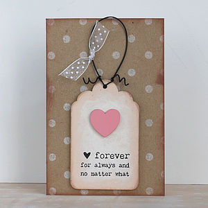 'Forever, For Always…' Card And Keepsake - cards