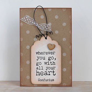 'Wherever You Go…' Card And Keepsake