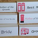 London Wedding Place Cards