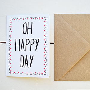 'Oh Happy Day' Card - cards