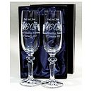 Personalised Anniversary Champagne Flutes