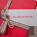 'You Make My Heart Leap' Gift Tag