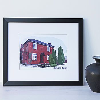 Personalised House Illustration Print