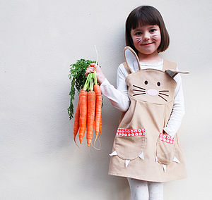 Girl's Easter Bunny Dress - easter holiday outdoor play