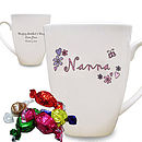 Personalised Mother's Day Floral Mug