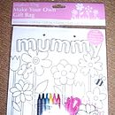 Colour Your Own Mother's Day Gift Bag