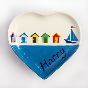 Personalised Small Heart Plate, Hand Painted
