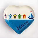 Thumb personalised small heart plate