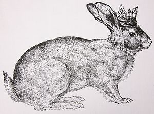 Royal Bunny Print Napkin Or Handkerchief - bed, bath & table linen