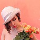 Iris 1920s Straw Cloche Hat