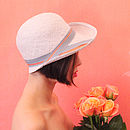 Iris 1920s Straw Cloche Hat