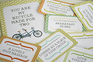 Bicycle Love Card And Vouchers - gifts under £10