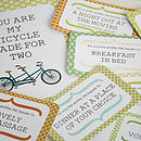Bicycle Love Card And Vouchers