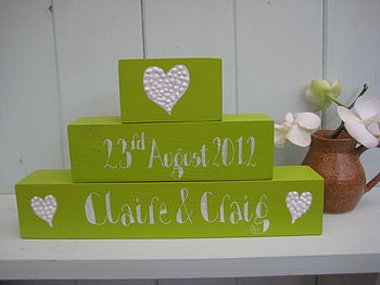 Personalised Wooden Blocks