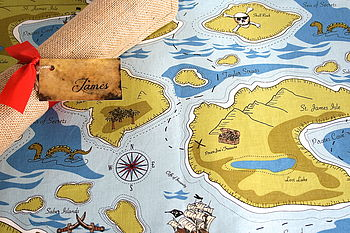 Pirate Treasure Map With Personalised Letter
