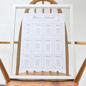 Daisy Chain Wedding Table Plan - table plans