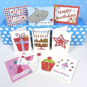 Pack Of 10 Mixed Birthday Cards - winter sale