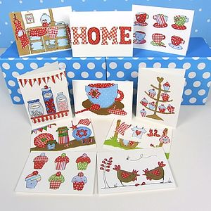 Pack Of 10 Home Cards