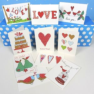 Pack Of 10 Love Cards