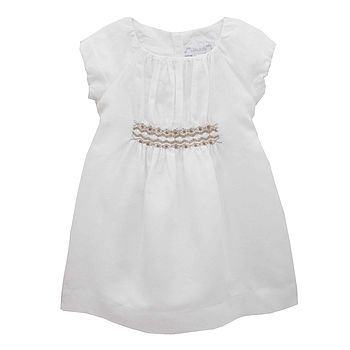 French Design Embroidery Smocking Dress