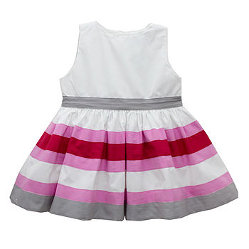 French Design Girl's Petticoat Striped Dress