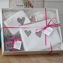Personalised Heart Pampering Gift Set