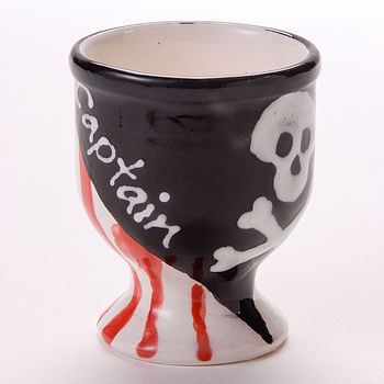 Personalised Pirate Captain Egg Cup