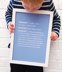 Personalised Mum / Mummy Dictionary Print - gifts for her