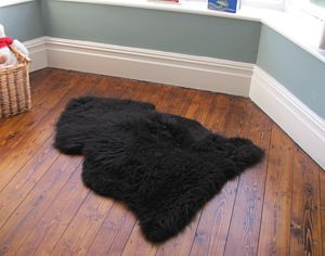 British Sheepskin Rug - living room