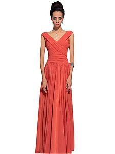 Kelly In Pleated Evening Dress - wedding fashion