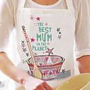 'Best On The Planet' Personalised Apron