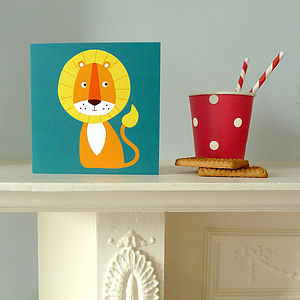 Lion Greetings Card - birthday cards